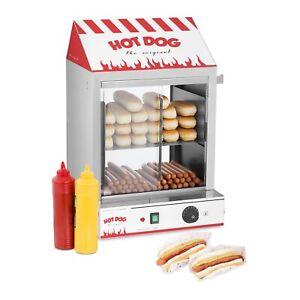 Hot Dog Steamer Maker Professional Erhitzer Wurstkocher Würstchenwärmer Funfood