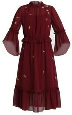 Ted Baker Briarna Sugar Plum Boho Ruffle Midi Dress Ted 2 UK10 New