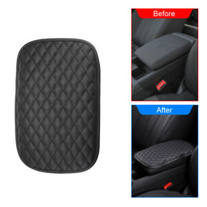 Car Armrests Pad Cover Auto Vehicle Center Console Cushion PU Leather Dust-proof