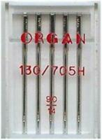 SEWING MACHINE NEEDLES 1 SIDE FLAT SIZE 90/14 ORGAN, FITS BROTHER, JANOME SINGER