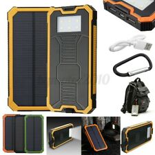 900000mAh 2 USB Solar Power Bank Battery Charger Waterproof F/ Cell Phone Yellow