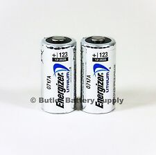 2 x CR123 Energizer 3V Lithium Batteries (CR123A, DL123, 123, EL123, CR17345)