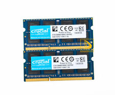 Crucial 2x 4GB 2RX8 PC3-8500S DDR3 1066Mhz SODIMM Laptop Speicher RAM 204Pin #~