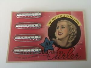 Vintage Hollywood Rapid Dry Hair Curlers circa 1950s- Betty Grable Edition