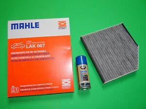 Aktivkohle Pollenfilter MAHLE LAK 667 + Klimareiniger Audi A6 4G, A7 4G, A8 4H