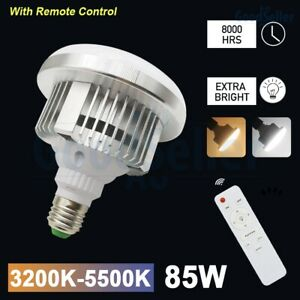 Photography Adjustable 85W LED Light Bulb Lamp with Remote Control 3200K-5500K