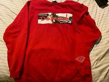 Diamond Supply Co Red Crewneck Sweatshirt Fleece Lined Size 4xl xxxxl
