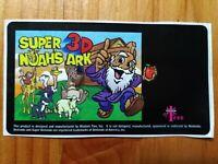 Set of 2 Super 3D Noah's Ark Super Nintendo SNES - ORIGINAL Cart Label Stickers!