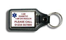 In case of emergency personalised key fob key ring