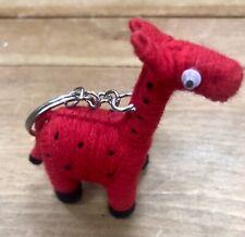 "Giraffe String Keyring Keychain Handmade 3"" Long FREE POSTAGE. UK"