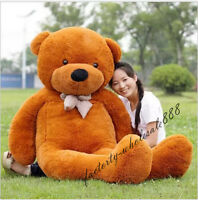 "Giant 78"" Big Teddy Bear Plush Soft Toys Doll Stuffed Animals Pillow Brown Gifts"