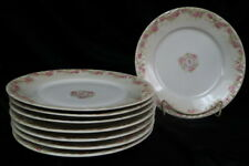 "(8) total #1098 Schleiger Theodore Haviland French Limoges 9 3/4"" dinner plates"