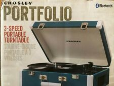 Crosley Record Player Vintage 3-Speed Bluetooth Vinyl Turntable, With Bluetooth