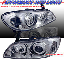 DUAL HALO PROJECTOR HEADLIGHTS CHROME HALOGEN TYPE FOR 2000-2001 INFINITI I30