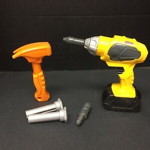 Fisher Price Drillin Action Tools Drill Hammer Bits