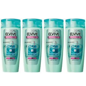 L'Oreal Elvive Extraordinary Clay Balancing Shampoo Lot of 3 Made in USA