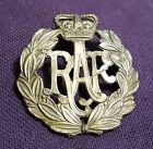 Original Cap Badge Royal Air Force RAF WW 2 Brass Kings Crown