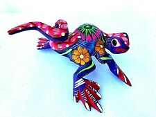 Lizard Alebrije Hand Painted Oaxacan Wood Carving Folk Art Oaxaca Mexico