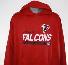 NEW Mens NFL Team Apparel Atlanta Falcons Red Fleece Football Pullover Hoodie