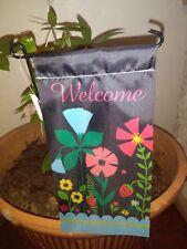 Floral Welcome Decorative Mini Garden Flag