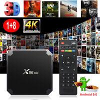 NEW Android 9.0 Pie 4K Quad Core Smart TV BOX WIFI HDMI 2.0 3D Movies MINIPC USB