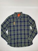 60s 1960s pure cotton check button down shirt by harridge Row ivy leauge trad mod skinhead size 16.5 16 size Large