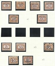 Eritrea stamps 1903 collection of 11 Due stamps Mlh/Canc Vf