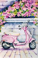 Moroz Elena Pink Dreams Russian modern Rare new postcard