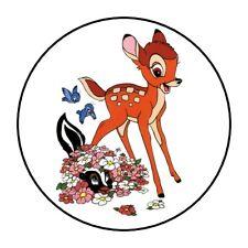 "30 Cute Bambi Envelope Seals Labels Stickers 1.5"" Round baby deer disney"