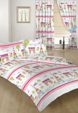 Paris Children's Double Bed Duvet Cover Set & 2 Pillowcases Bedding Kids Girls