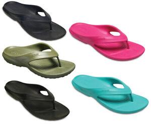 Crocs Classic Flip Flops Lightweight Open Toe Flat Summer Holiday Beach Sandals