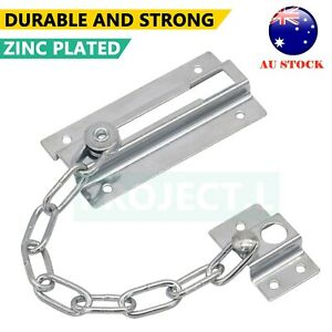 Security Door Chain Home Office Lock Guard Latch Stainless Sliding Fastener Au