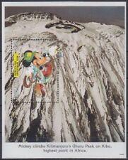 Disney Cartoons / Mickey's World Tour Tanzania S/Sheet Kilimanjaro MNH #DS095
