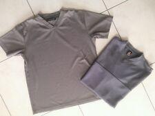2 er Set:Modische T-Shirt,Sport, Bussiness,grau,Herren,smog,icono,Gr.M/L