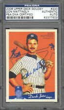2008 UD Goudey #220 Don Mattingly SP PSA/DNA Certified Authentic Autograph Auto