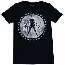 Sailor Moon Silhouette Moon Logo Men's Black T-Shirt Official License Legit