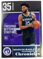 2018 18 Panini Chronicles Chrome Foil Marvin Bagley III Rookie RC #516, Kings