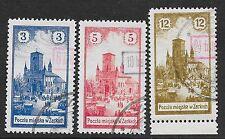 Poland/ZARKI stamps 1918 MI 4-6 signed Mikulski  CANC  VF