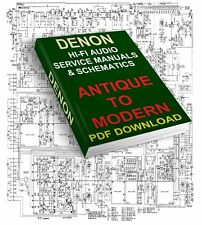 DENON SERVICE MANUALS & SCHEMATICS ANTIQUE TO MODERN DOWNLOAD