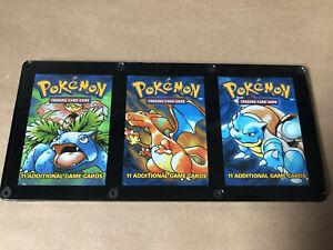 Framed Pokemon Base Empty Booster Pack Set