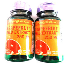 NEW Lot 2 Grapefruit Seed Extract Citrus Natural 250Mg 120 Total Pills Capsules