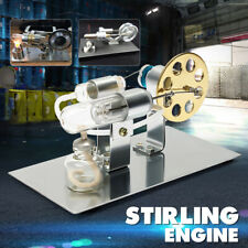 Stirling Engine Model Power Generator Motor Educational Steam Hot Air Metal Glas