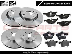 FOR PEUGEOT 407 2.2 2.7 3.0 2004-2011 FRONT & REAR BRAKE DISC DISCS AND PADS SET
