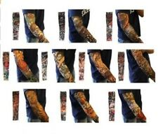 H88 Nylon Stretch Costume Fake Tattoo Sleeve Arm Stocking 6 Pcs