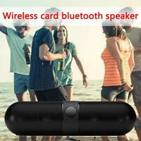 Bluetooth Wireless Speaker Mini Super Bass USB Stereo Mp3 Pill Speaker 5V 1000mA