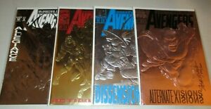 Avengers #360 363 366 369 (Lot x4 Special Foil Issue) 2 Signed Steve Epting COA