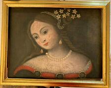 Ritratto  Femminile  secolo XVIII Olio  su tela