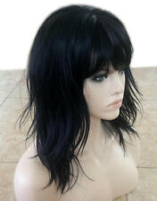 Forever Young Textured Layers Heat Safe Wig (Color 1 Black) Layered Bangs