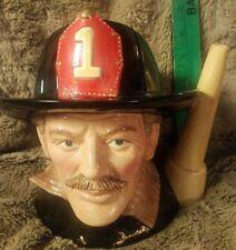 Vintage 1982 Royal Doulton Character Toby Jug Pitcher The Fireman D6697 England