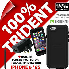 Trident Cyclops Protective Case Rugged for Apple iPhone 6/6S +USB Mains Charger